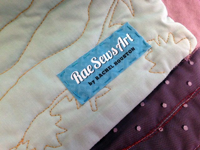 Rae Sews Art Quilt Label