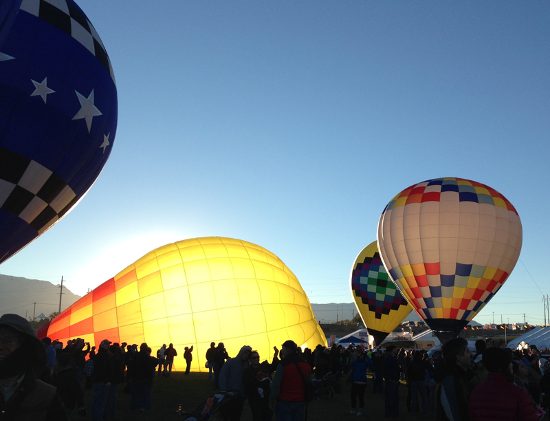 Balloon Fiesta at Sunrise